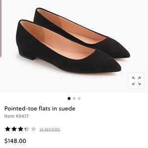 J crew leather pointy toe flats
